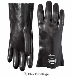 Boss 8712  Economy Plus Smooth Grip PVC Gloves with Gauntlet Cuff - Large