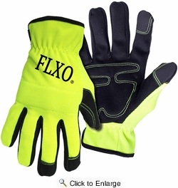 Boss 901  Men's High-Vis Green Touchscreen Mechanic Synthetic Leather Palm Gloves - 2X-Large