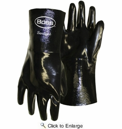 Boss 951  Chemguard+ Black Neoprene Gloves with Gauntlet Cuff - Large