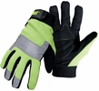 Boss CAT012214  Cat Gloves Hi-Vis Green Utility Gloves with Padded Palm - X-Large