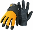 Boss CAT012215  Cat Gloves Yellow Utility Gloves with Padded Palm and Mesh Back - X-Large