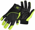 Boss CAT012224  Cat Glove Synthetic Palm Hi-Vis Green Utility Gloves - Large
