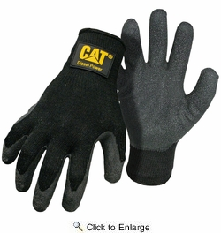 Boss CAT017400  Cat Gloves Black Textured Latex Palm Gloves - Large