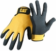 Boss CAT017416  Cat Gloves Yellow Nylon Utility Gloves with Foam Nitrile Palm - Large