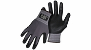 Boss CAT017419  Cat Glove Dipped and Dotted Nitrile Coated Palm Gloves - Large