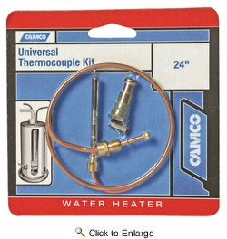 "Camco 09293  Thermocouple Kit 24"" Bilingual"
