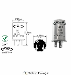 CEC TF550BP  Thermal Flasher 3 Terminal - Carded