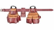 Custom Leathercraft 21453  Top Of The Line Pro Framer's Heavy Duty Leather Combo System Tool Belt