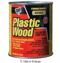 Dap  21506  Plastic Wood Solvent Wood Filler  - Natural 16-oz Can