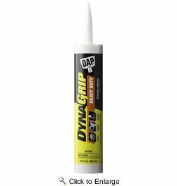 Dap  27509  Dynagrip Heavy Duty Construction Adhesive - Off-White 10-oz Cartridge