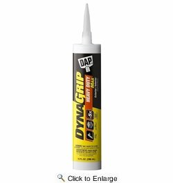 Dap  27511  Dynagrip Heavy Duty Max Construction Adhesive - White 9-oz Cartridge
