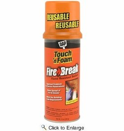Dap  7565010012  Touch'N Foam FireBreak Flame Resistant Sealant - 12-oz