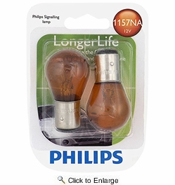 Philips 1157NALLB2  Longer Life Mini Bulb - Natural Amber