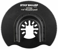 "Exchange-A-Blade 2070052  Stay Sharp 3-3/8"" HCS Angled Oscillating Tool Blade for Wood and Drywall"