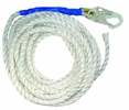 FallTech 8150T  50-Feet Vertical Lifeline With 1 Snap Hook and Taped-End