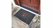 "Fan Mats 11385  Texas Tech University Red Raiders 19.5"" x 31.25"" Medallion Vinyl Door Mat"