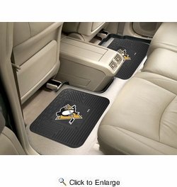 "Fan Mats 12401  NHL - Pittsburgh Penguins 14"" x 17"" Utility Mats 2 per Package"