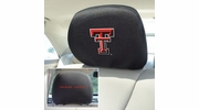 "Fan Mats 12598  Texas Tech University Red Raiders 10"" x 13"" Head Rest Covers"