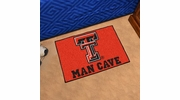 "Fan Mats 14612  Texas Tech University Red Raiders 19"" x 30"" Man Cave Starter Mat"