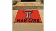 "Fan Mats 14613  Texas Tech University Red Raiders 33.75"" x 42.5"" Man Cave All-Star Mat"