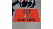 Fan Mats 14615  Texas Tech University Red Raiders 5' x 8' Man Cave Ulti-Mat
