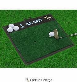 "Fan Mats 15704  U.S. Navy 20"" x 17"" Golf Hitting Mat"