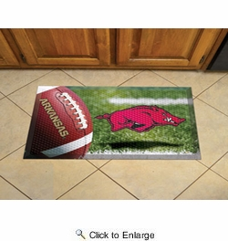 "Fan Mats 19208  University of Arkansas Razorbacks 19"" x 30"" Scraper Mat - Ball Design"