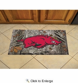 "Fan Mats 19209  University of Arkansas Razorbacks 19"" x 30"" Scraper Mat - Camo Design"