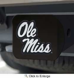 Fan Mats 21056  University of Mississippi (Ole Miss) Rebels Hitch Cover - Black