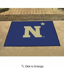 "Fan Mats 3543  US Naval Academy Midshipmen 33.75"" x 42.5"" All-Star Series Area Rug / Mat"