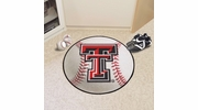 "Fan Mats 3556  Texas Tech University Red Raiders 27"" Diameter Baseball Shaped Area Rug"