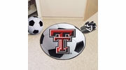 "Fan Mats 3558  Texas Tech University Red Raiders 27"" Diameter Soccer Ball Shaped Area Rug"