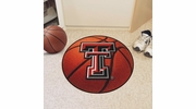 "Fan Mats 3562  Texas Tech University Red Raiders 27"" Diameter Basketball Shaped Area Rug"