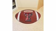 "Fan Mats 3564  Texas Tech University Red Raiders 20.5"" x 32.5"" Football Shaped Area Rug"