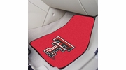 "Fan Mats 5329  Texas Tech University Red Raiders 17"" x 27"" Carpeted Car Mat Set"