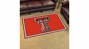 Fan Mats 6992  Texas Tech University Red Raiders 4' x 6' Area Rug