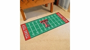 "Fan Mats 7563  Texas Tech University Red Raiders 30"" x 72"" Football Field-Shaped Runner Rug"