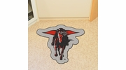 Fan Mats 8337  Texas Tech University Red Raiders Approx. 3 ft x 4 ft Mascot Area Rug / Mat