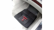 "Fan Mats 8920  Texas Tech University Red Raiders 17"" x 27"" Heavy Duty Vinyl Car Mat Set"