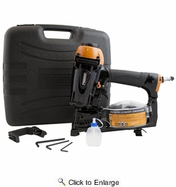 "Freeman PCN45  3/4"" to 1-3/4"" Pneumatic 15° Coil Roofing Nailer"