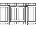 "Gatemate 7020003  48"" - 84"" Adjustable Gate Frame Kit - Black Finish"