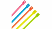 "GB Gardner Bender 46-308FST  8"" Double Lock Cable Ties 75-lb Assorted Fluorescent Colors - 100 per Bag"