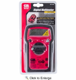 GB Gardner Bender GDT-3200  7-Function Auto Ranging Digital Multimeter with 7-Ranges - Tests AC/DC Volt, Resist, Diode, Continuity, Temp and Battery