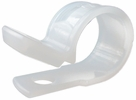 """GB Gardner Bender PPC-1550  1/2"""" Plastic Cable Clamps - Natural White - 12 per Package"""