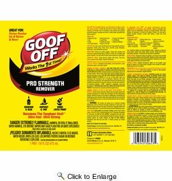 Goof Off FG653  Pro Strength Remover 16 oz. E-Z Pour