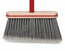 "Harper Brush  115-4  9"" Angled Smooth Sweep Upright Broom With Vinyl Bumper"