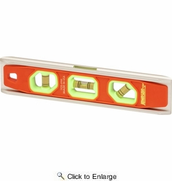 """Johnson Level & Tool Manufacturing 1435-0900  9"""" Magnetic Glo-View Torpedo Level"""