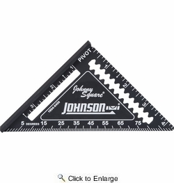 """Johnson Level & Tool Manufacturing 1904-0450  4.5"""" Johnny Square Professional Easy-Read Finish Square"""