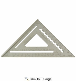 """Johnson Level & Tool Manufacturing RAS-120  12"""" Aluminum Rafter Angle Square with Manual"""
