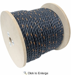 "KingCord 644761  3/8"" x 400' Polypropylene Twisted Truck Rope (235085)"